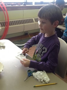 Cutting out a snowflake