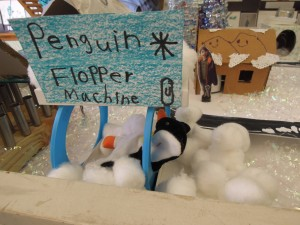 """The Penguin Flopper Machine.  """"If you are naughty, you have to go into the Penguin Flopper for 100 hours."""""""